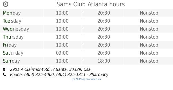 Sams Club Sunday Hours >> Sams Club Atlanta Hours 2019 Update